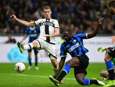 Lukaku got Inter's equaliser in the draw with Parma. AFP