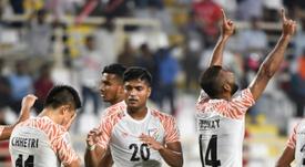 India golea a Tailandia. AFP