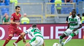 Mkhitaryan podría quedarse en la Roma la próxima temporada. AFP