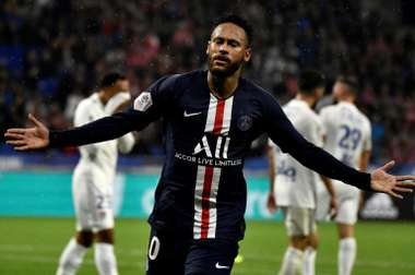 Neymar scored a late winner to claim all three points for PSG at Lyon. AFP