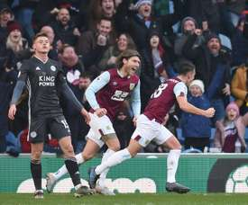 Ashley Westwood gave Burnley the three points v Leicester. AFP