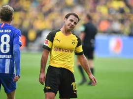 Dortmund conceded late against Hertha. AFP
