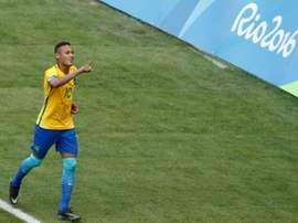 Neymar, la gran arma de Brasil. AFP