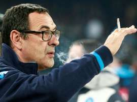 Sarri spends over 1000 pounds on cigarettes a month. AFP