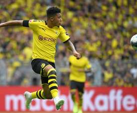 Sancho got on the scoresheet for Dortmund in the win over Augsburg. AFP