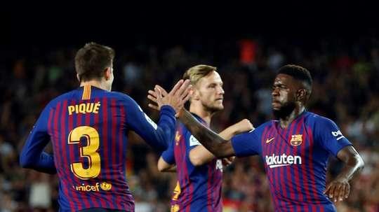 El Barça podría fichar un central en el mercado invernal. AFP