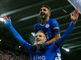 Vardy and Mahrez formed a lethal partnership for the Premier League champions last year. AFP