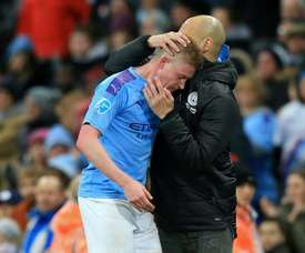 De Bruyne's agent crushes Madrid and Juve's hopes. AFP