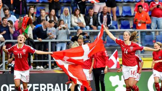 Denmark beat Austria on penalties to reach final. AFP