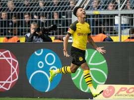 Sancho has made a breakthrough at Dortmund. AFP