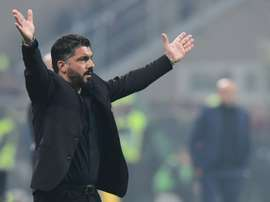 Gennaro Gattuso believes his side can make Champions League qualification this season. AFP
