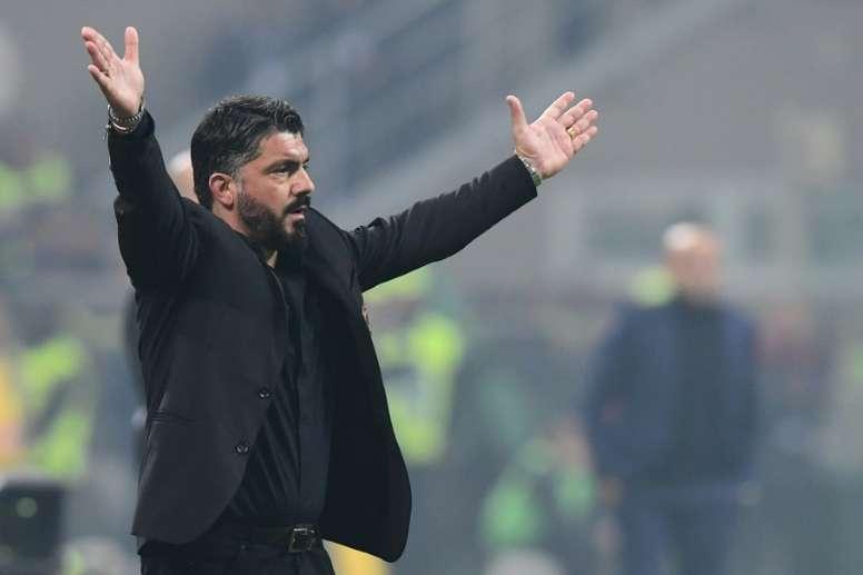 Gattuso explica que no cumplirá su contrato con el Milan. AFP