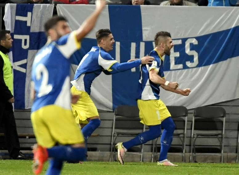 Kosovo will take the field  on Tuesday for their first ever international against England. AFP