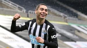 Almiron inscrit le deuxième but le plus rapide de l'histoire de Newcastle. AFP