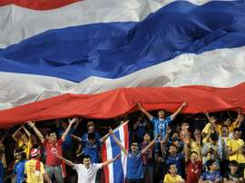 Thai supporters at a World Cup qualifier against Saudi Arabia in Bangkok in 2011. AFP