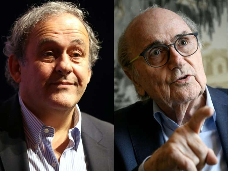 Blatter and Platini are to be investigated for fraud. AFP