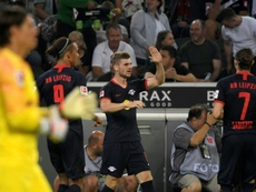 Werner scored twice as Leipzig made it three wins from three. AFP