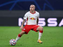 Angelino goes back to Manchester in Leipzig shirt with point to prove. AFP