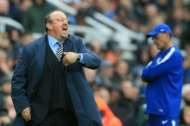 Rafa Benitez is not expecting much from this season. AFP