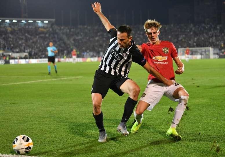 Man U won 1-0. AFP