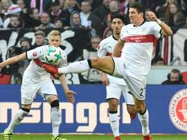 Gomez gives Stuttgart space to breathe. AFP