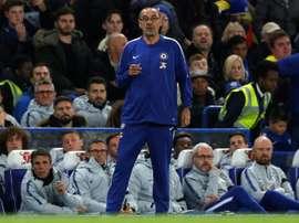 Sarri has a strange crunch-match superstition. AFP