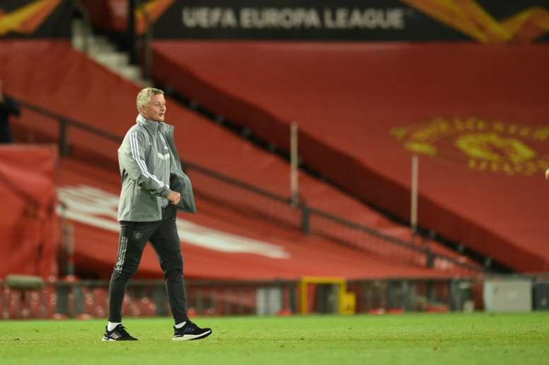 Ole Gunnar Solskjaer says he would love to win a trophy as a manager. AFP
