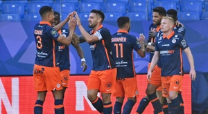 Montpellier win thriller to move joint second in Ligue 1. AFP