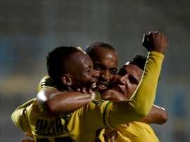 Mamelodi Sundowns players celebrate. AFP