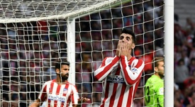 O Atlético está há 180 minutos sem fazer gol na LaLiga. AFP