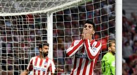 Morata se quejó del arbitraje al Atlético. AFP