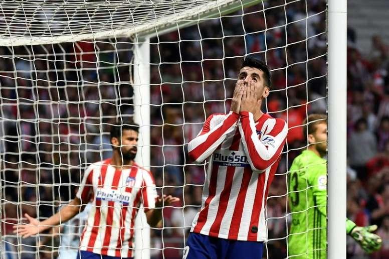 Los rojiblancos parecen haber perdido el gol. AFP