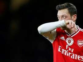 O desabafo de Özil. AFP