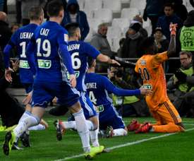 Strasbourg triumphed on penalties against Marseille. AFP