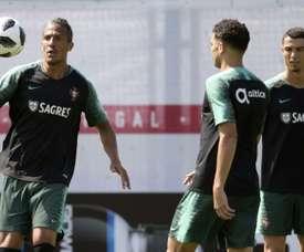Bruno Alves analizó el camino de Portugal. AFP
