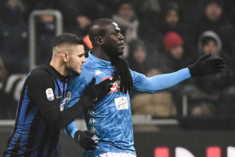 El Nápoles quiso a Icardi. AFP