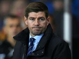 The win puts Steven Gerrard's side level on points with Celtic. AFP