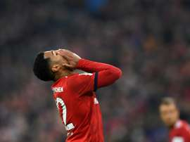 Serge Gnabry reacts in frustration after Bayern could only draw. AFP