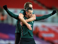 Gareth Bale sent Tottenham on their way at Stoke in the Carabao Cup. AFP