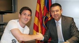 O presidente do Barça está mais do que convencido. AFP