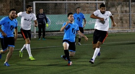Inside Jerusalems walled Old City, a month-long football tournament takes place. AFP