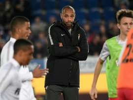 Henry was not able to gt Monaco back to winning ways in his first game in charge. AFP