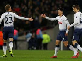 Son made a scoring return after his recent exertions in the Asian Cup. AFP
