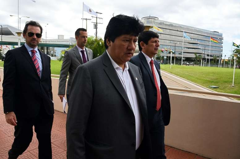 Leader of the Peruvian football federation has been arrested on suspicion of corruption. AFP