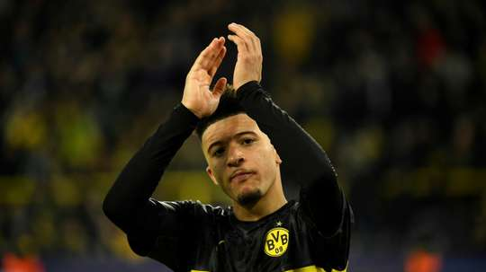 Sancho has been linked with United. AFP