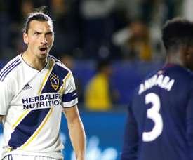 Zlatan Ibrahimovic viveu uma temporada e meia no futebol dos Estados Unidos. AFP
