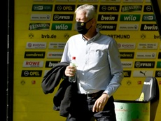 Lucien Favre could leave Dortmund at end of the season. AFP