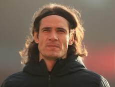 Manchester United forward Edinson Cavani. AFP