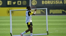 Youssoufa Moukoko, jovem promessa do Borussia Dortmund. AFP
