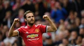 Mata salvó los muebles del United en su primer amistoso. AFP